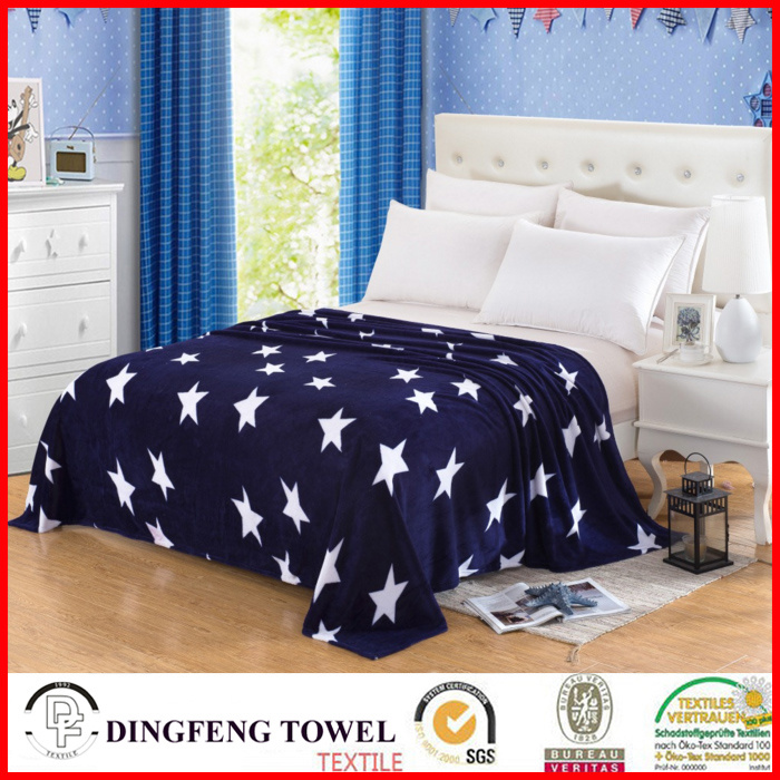 2016 New Season Coral Fleece Blanket with Printed Df-8841