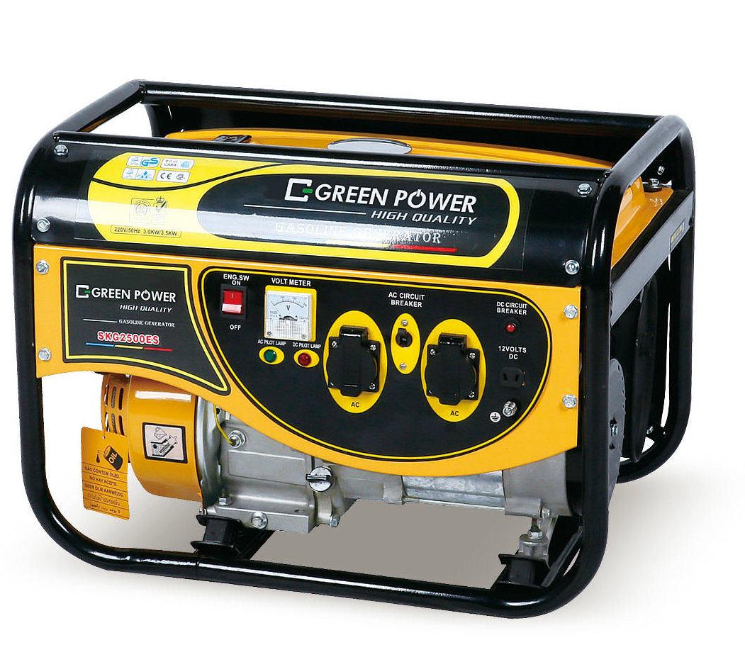 China 3kw Hot Sale 100 Copper Wire Portable Gasoline Generator Circuit Breaker