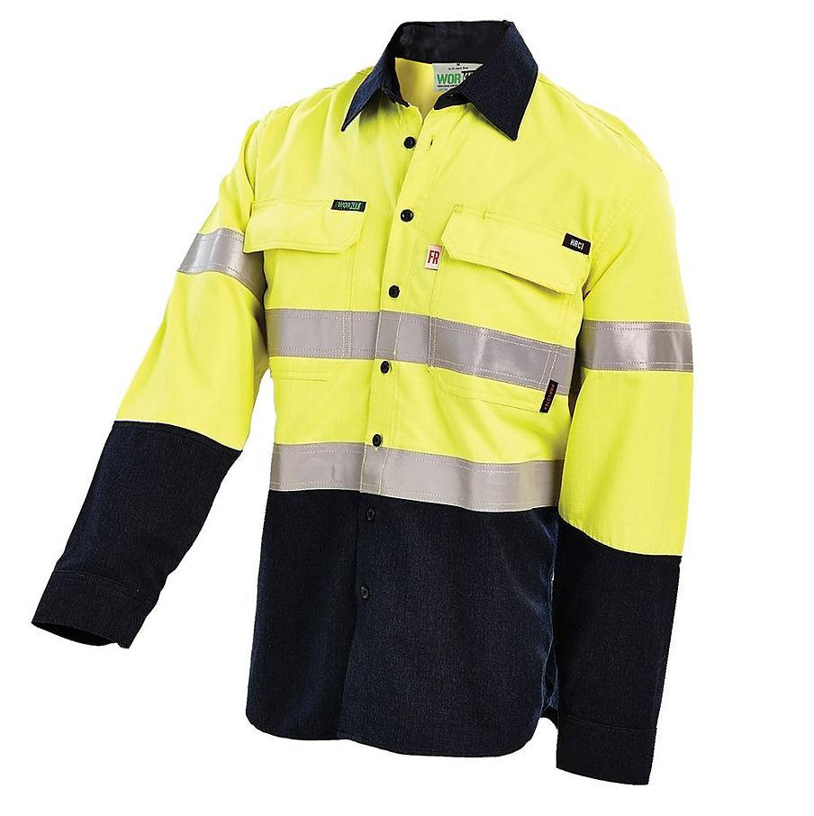 Ace Online Pack of 2 New Hi Vis viz t Shirts Short Sleeve Two Tone Safety Security Work Wear Summer Breathable Top