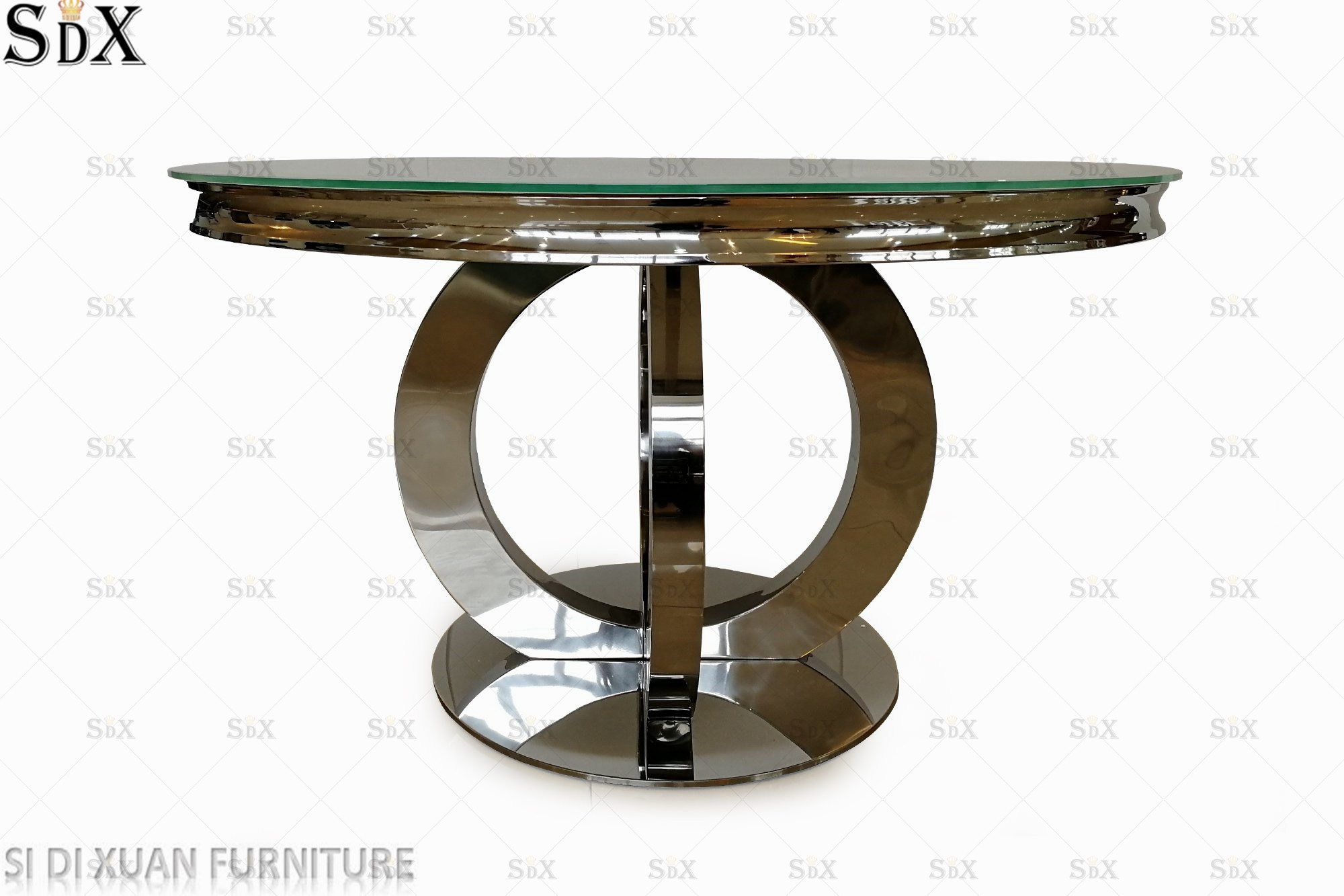 China Orion Design Round Table Stainless Steel Dining Furniture Dining