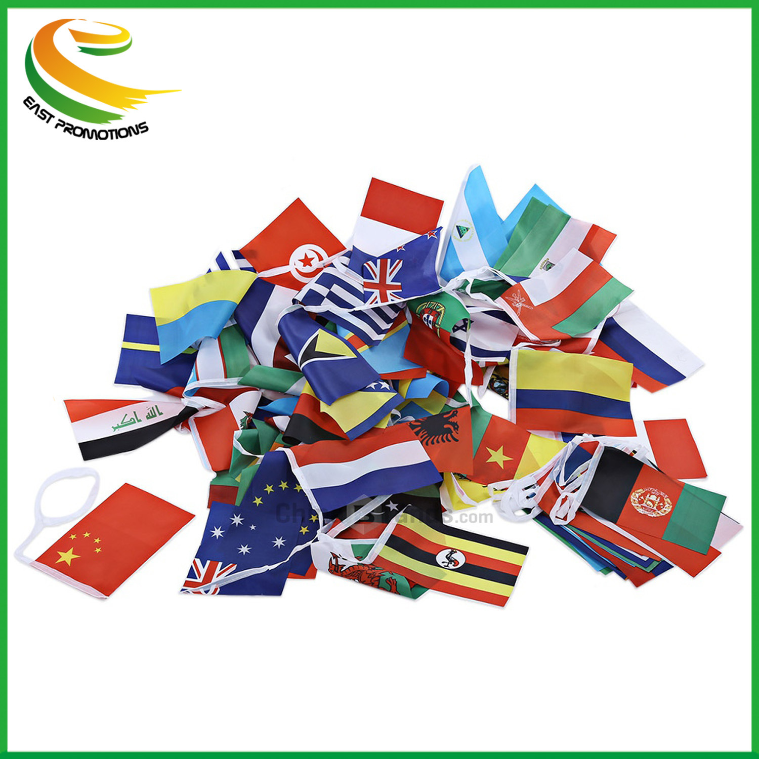 Advertising Double Sides Printed Hanging Event Vinyl Flag Strings Flag Bunting pictures & photos