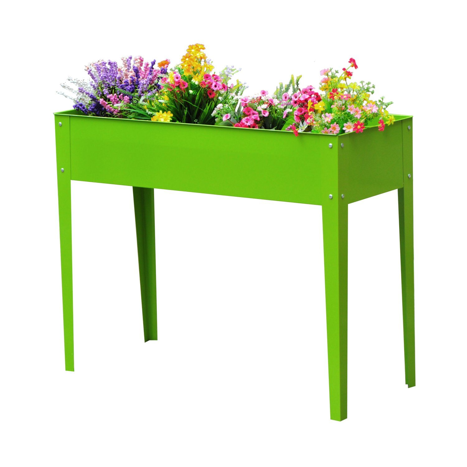 China Metal Raised Garden Bed Planter Box For Flower Vegetable Grow In Garden And Outdoor China Aluminum Planter And Garden Planter Price