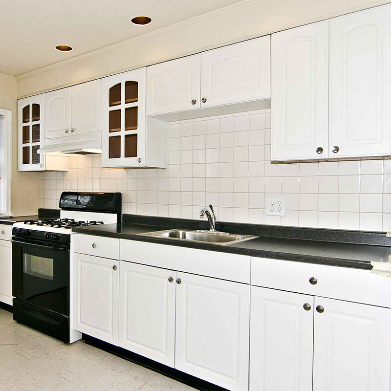 High Quality Australia Modern White Kitchen Pantry Cupboards Cabinets