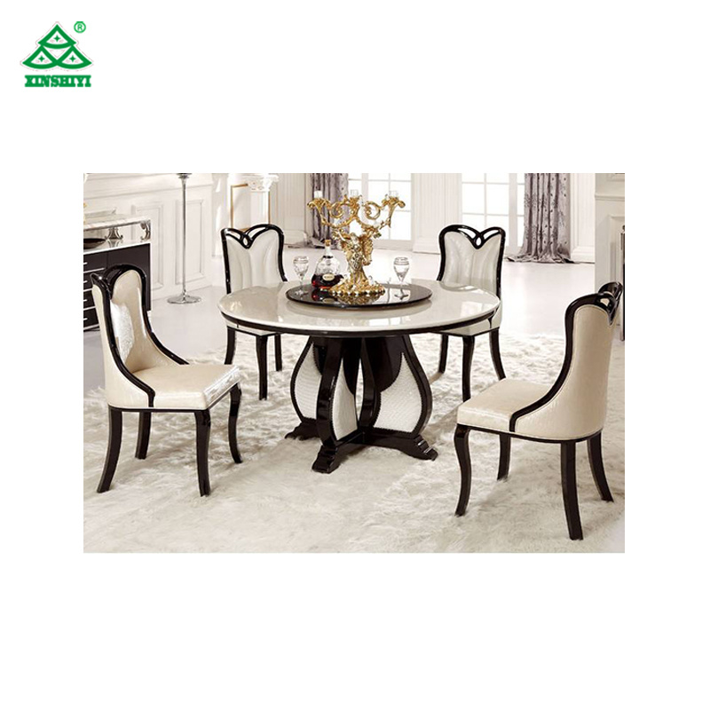 China Marble Top Dining Table Round Rotating