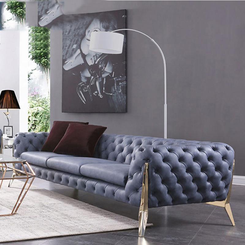 Italian Chesterfield Style Leather Sofa
