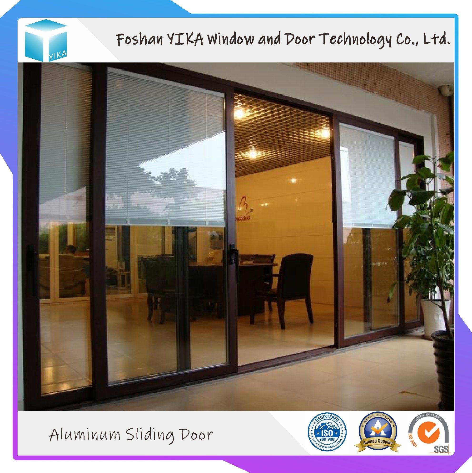 China Foshan Manufacturer Double Glass Aluminum Sliding