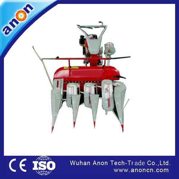 China Anon Mini Rice Paddy Cutting Machine 3 Rows Reaper
