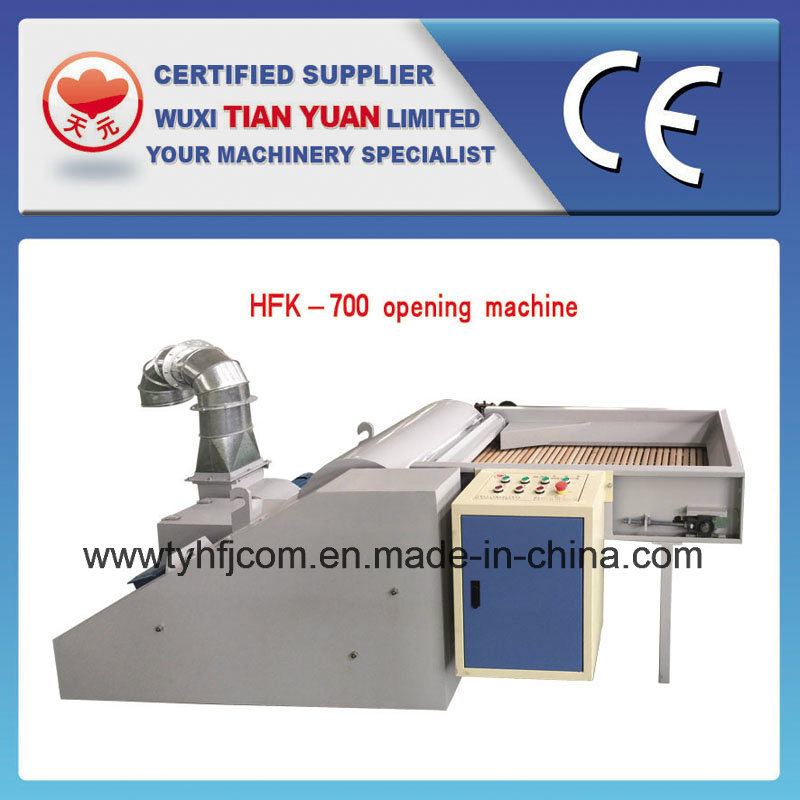 Polyester Stable Fiber Nonwoven Opening Machine with CE Approved (HFK-700)