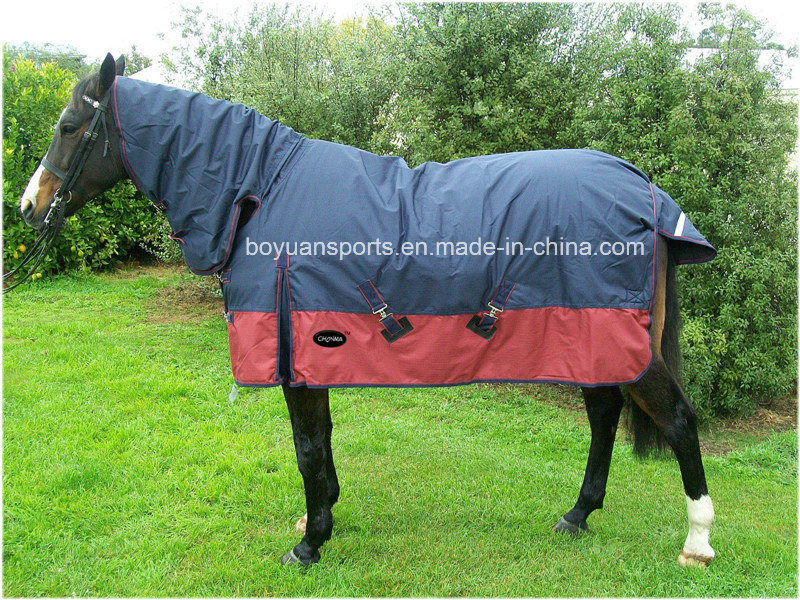 Hot Item 1680d Polyester Turnout Waterproof And Breathable Horse Rug For Winter