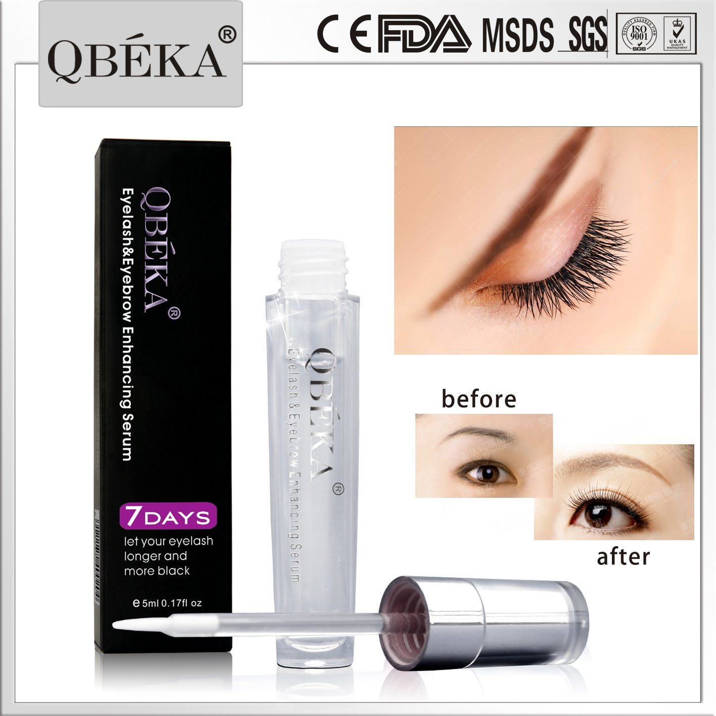c1f9976e4cc China Cosmetic QBEKA Eyelash Eyebrow Enhancing Serum for Eyelash ...