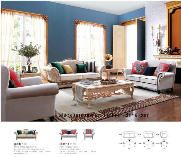 China Wholesale Home Furniture Cheap Sofa Big Fabric Sofa China