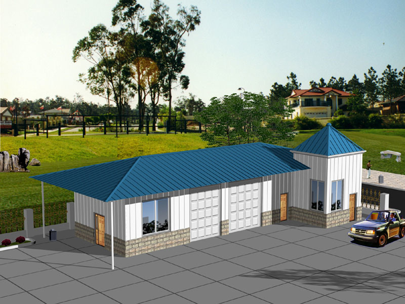 [Hot Item] Fast Installation Prefabricated Home with Car Park