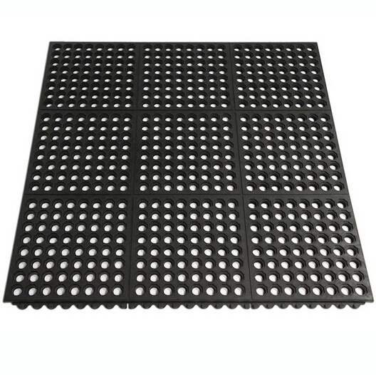 Anti Slip Interlocking Kitchen Chef Rubber Floor Protection Mats