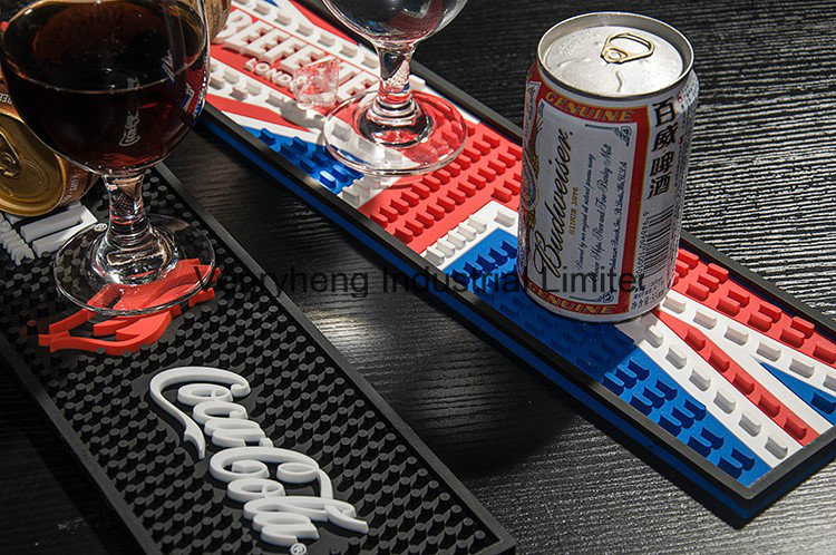 China Cocktail Bar Drip Rail Mats Coasters Bar Runner with 3D