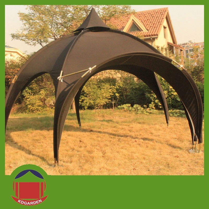 China Black Color Dome Tent With Awning