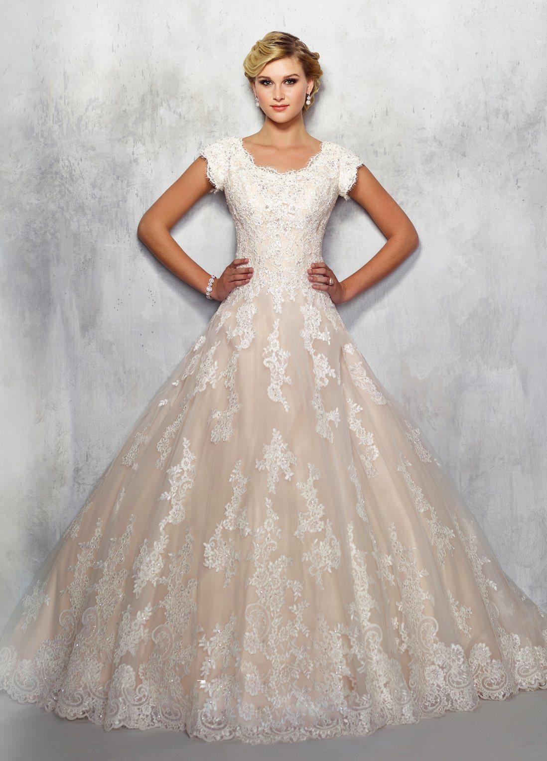 China Amelie Rocky Short Sleeve Beaded Long Vintage Muslim Wedding ...