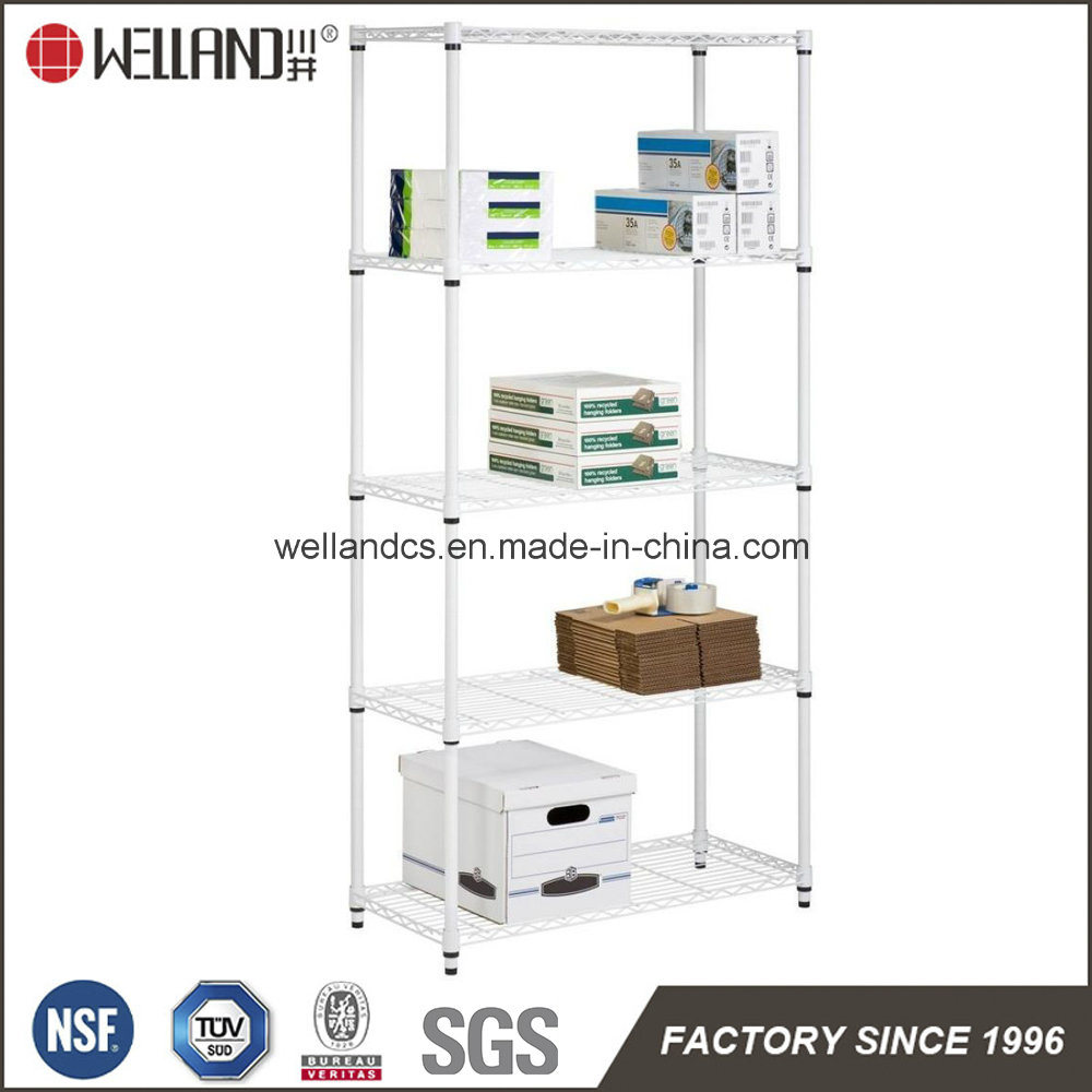 china white 5 tiers light duty adjustable metal wire file shelf rack for  office & school - china file shelf, office file shelf