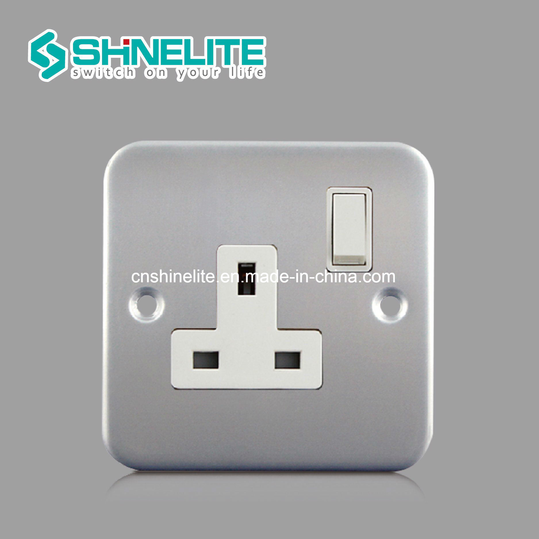 China Metal Clad Ce Certificate 13a Uk Socket Electrical Switch