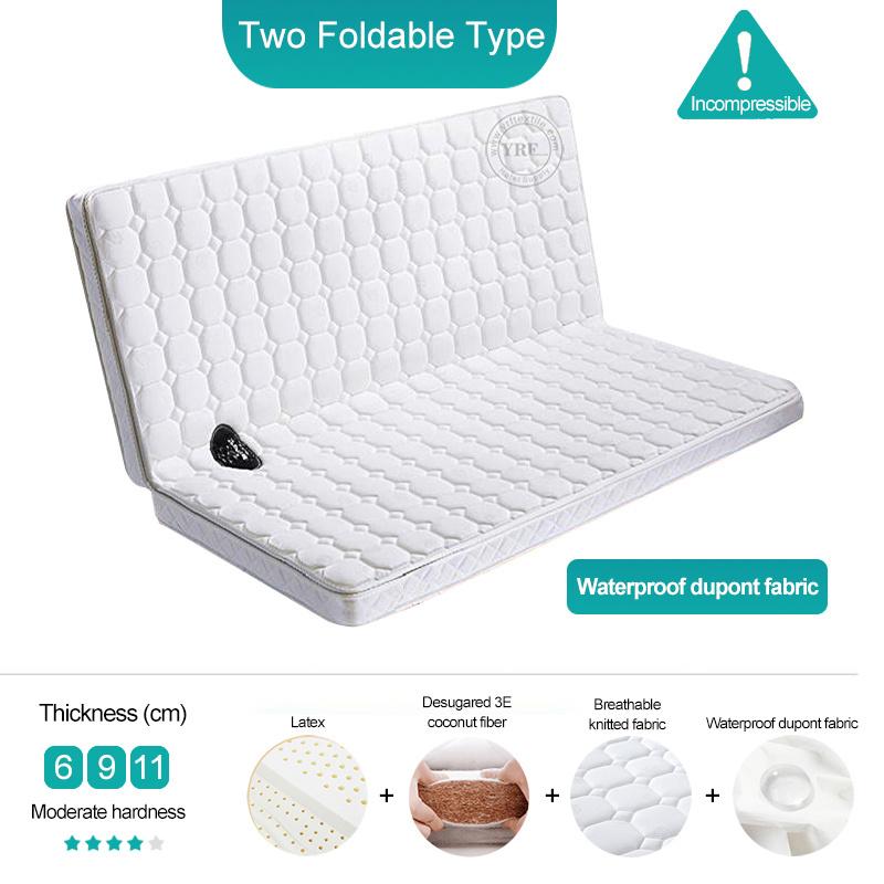 Mattress Foldable Waterproof Fabric 8cm