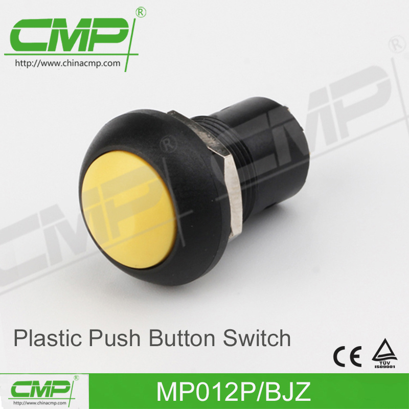 Small DOT Illuminated Push Button Switch (12mm, Plastic)