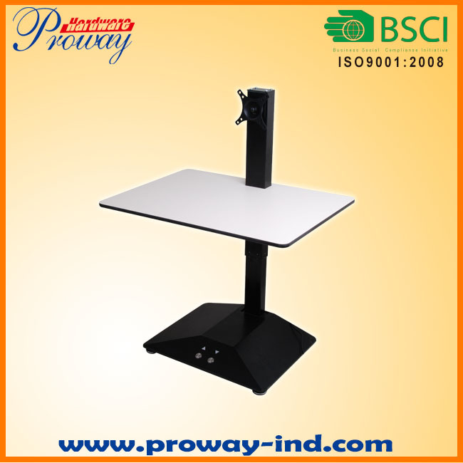 "Electric Standing Desk Adjustable Height Desk Converter, Size 28"" X 20"" Instantly Converts Any Desk or Cube to a Sit to Stand up Workstation Desk"