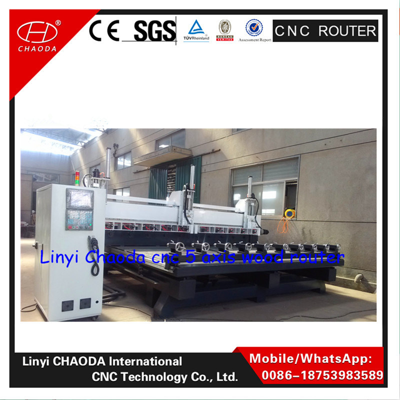 2016 Cheap! ! ! 5 Axis Multi Spindle Rotary CNC Carving Machine for Wooden Legs pictures & photos