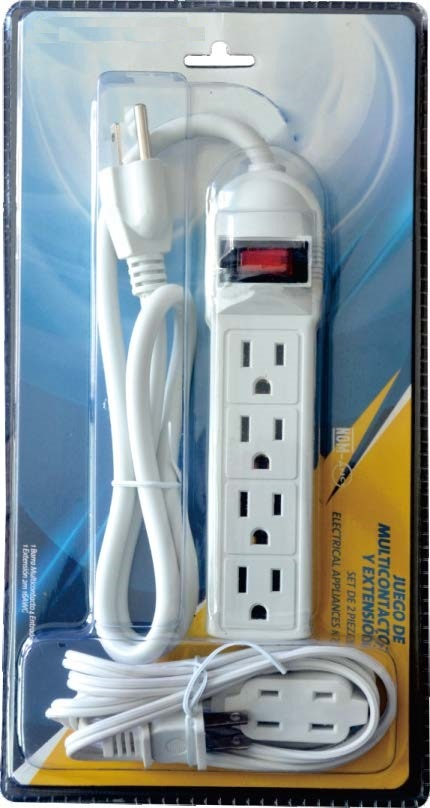 China Composed Packing For Usa Power Strip Extension Cord