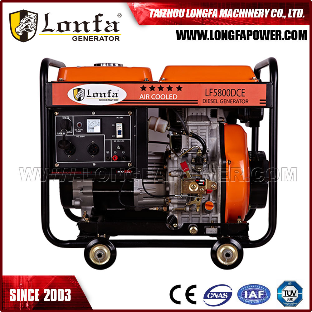 5kVA/5kw Portable Electric Start Air-Cooled Diesel Power Generator with Wheels pictures & photos