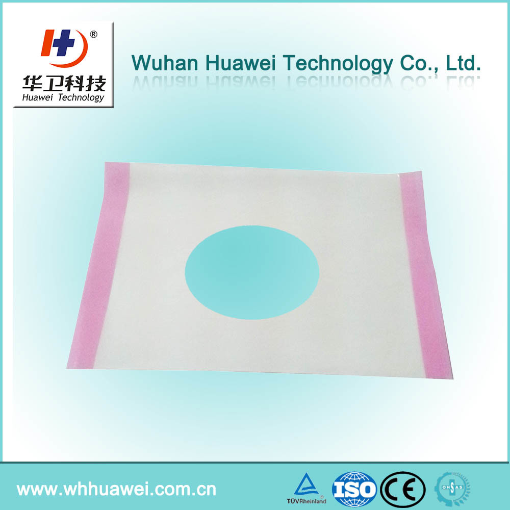The Best Quality Transparent Iodine Hospital Operation Surgical Incise Drape with Hole pictures & photos
