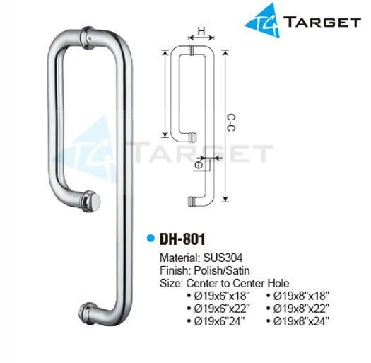 China Shower Glass Door Handle Dh 801 China Handle Shower Door
