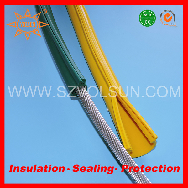China Yellow Silicone Rubber Overhead Line Cover for Conductor ...