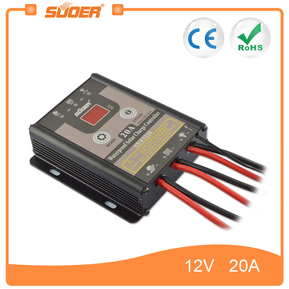 China Suoer 12v 20a Solar Panel Manual Pwm Charge Controller Charger Schematic Manufacturers St F1220