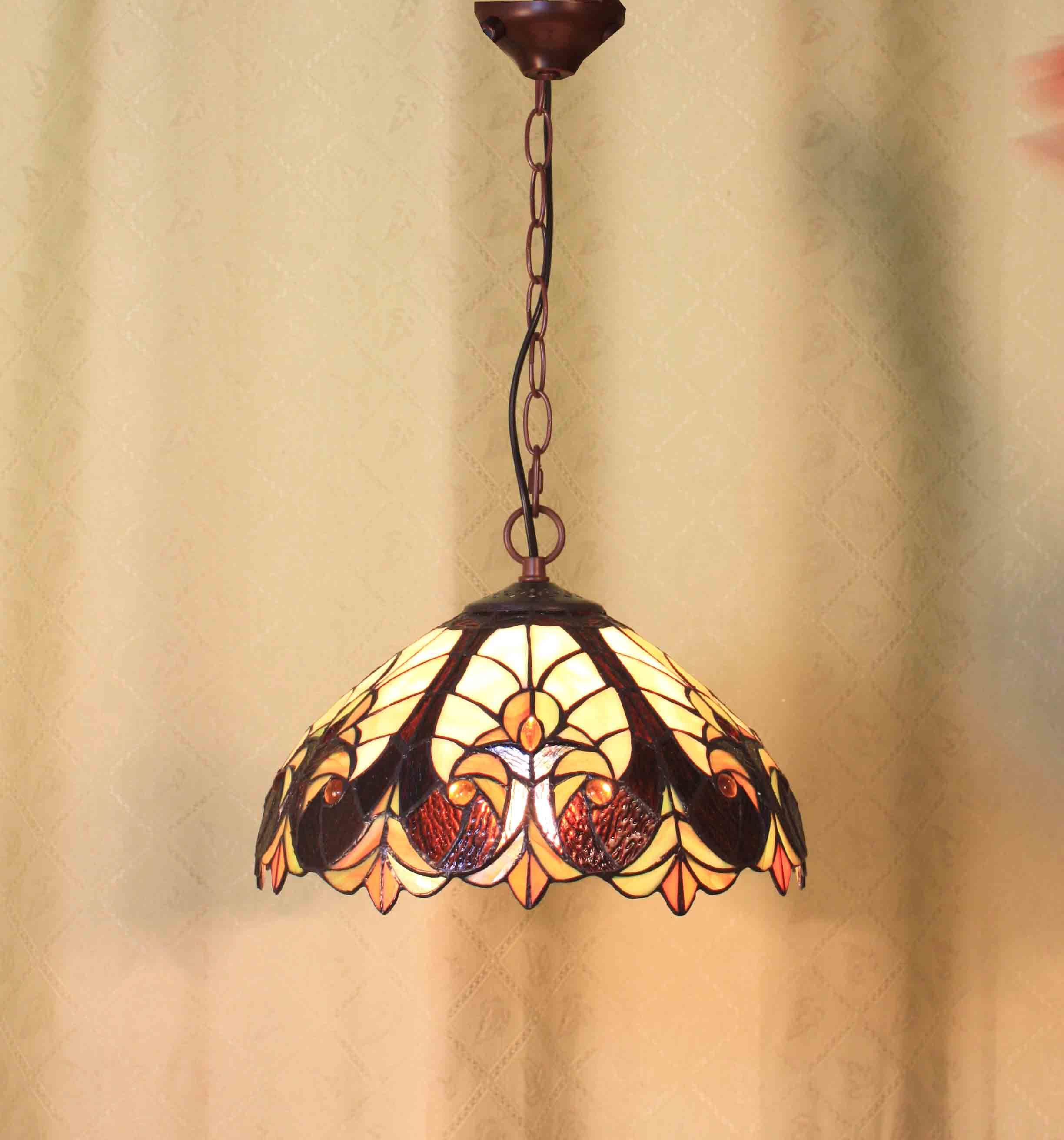 Stained Glass Hanging Lamp.Hot Item Stained Glass Hanging Lamp And Pendant Clp197