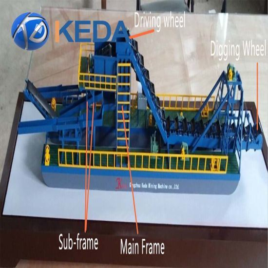 [Hot Item] Hot Selling Gold Sand Mining Dredge Boat with Bucket