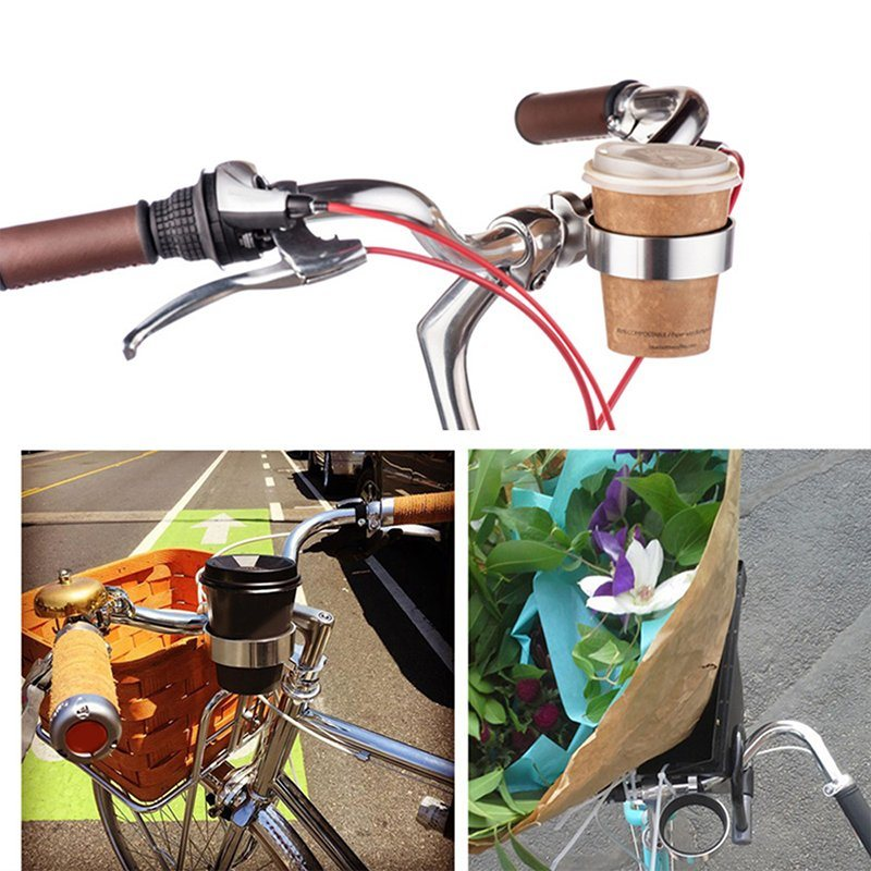 Alloy Bike Bicycle Cycling Water Bottle Holder Coffee Cup Cage Rack Silver