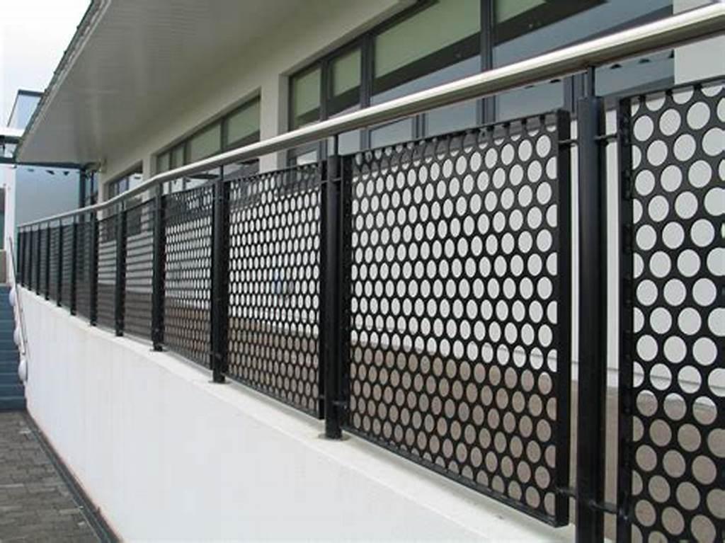 China Perforated Metal Balcony Panel Railing Panel Metal ...