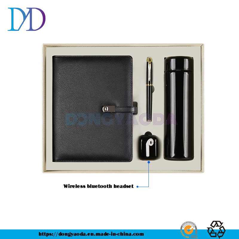 China Notebook Stationery Custom Logo Business Gift Box Bluetooth Headset Set Black China Gift And Promotion Gift Price