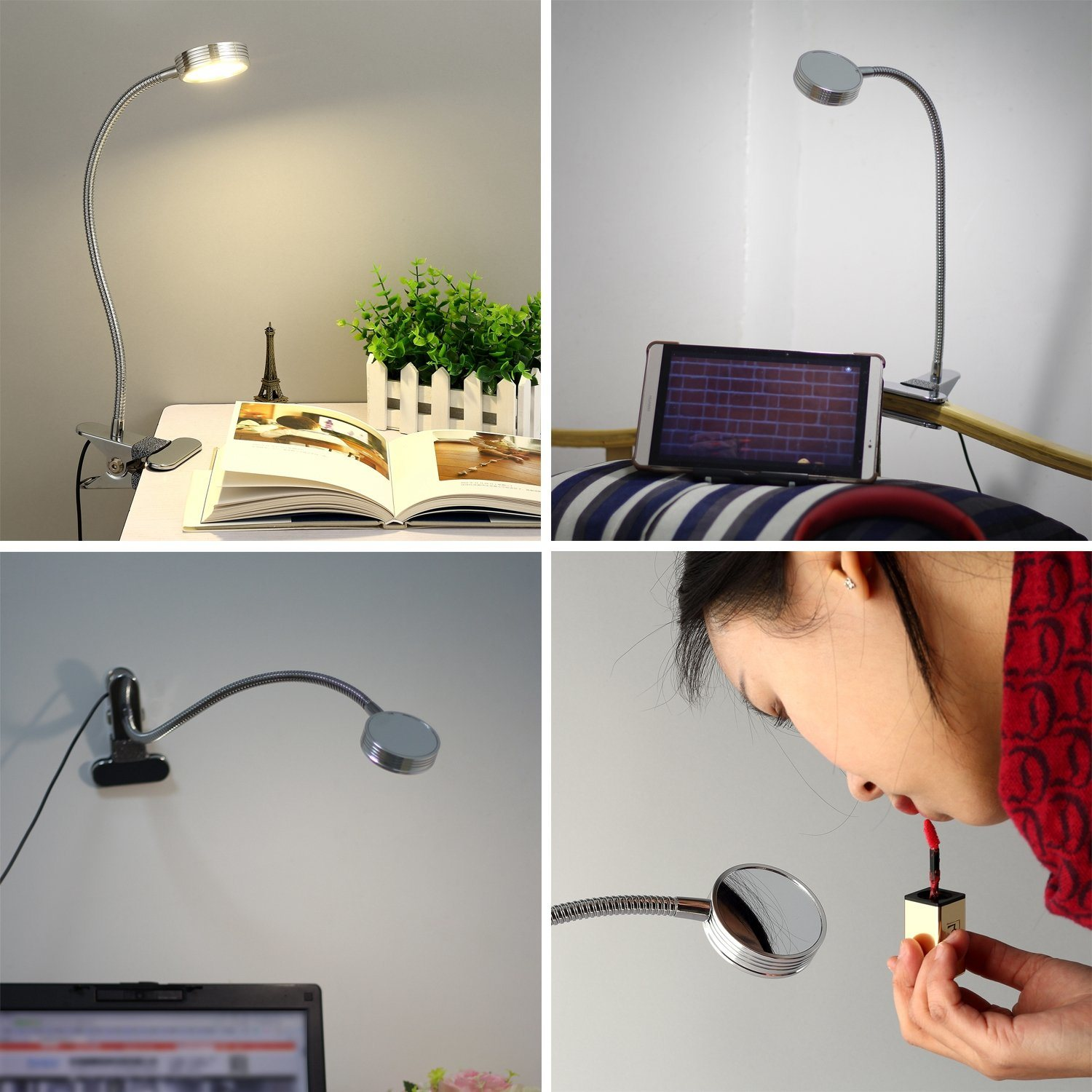 Image of: China Modern Table Lamp With Clamp Can Makeup Led Clip Desk Lamp Photos Pictures Made In China Com