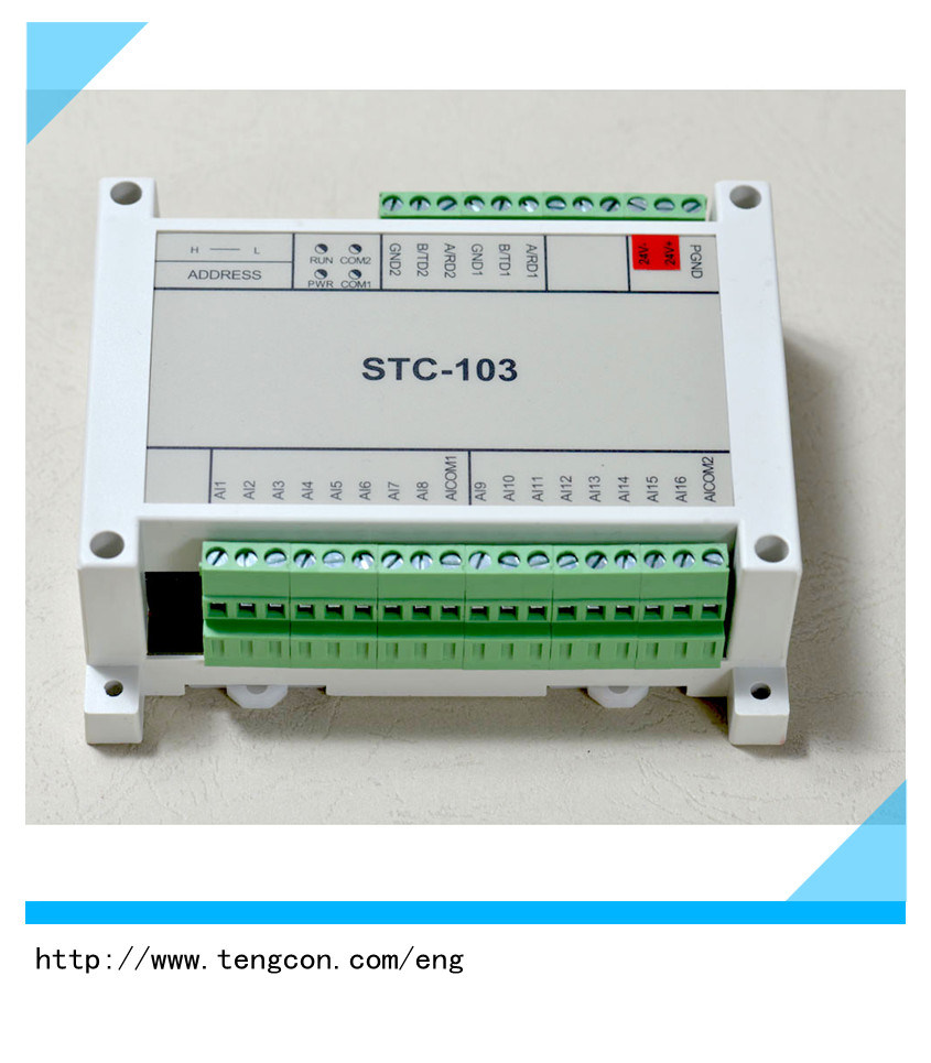 Modbus RTU Tengcon Stc-103 with 16analog Input