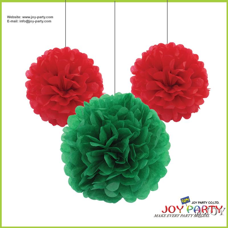 China Tissue Paper Flower Ball POM Poms Garlands For