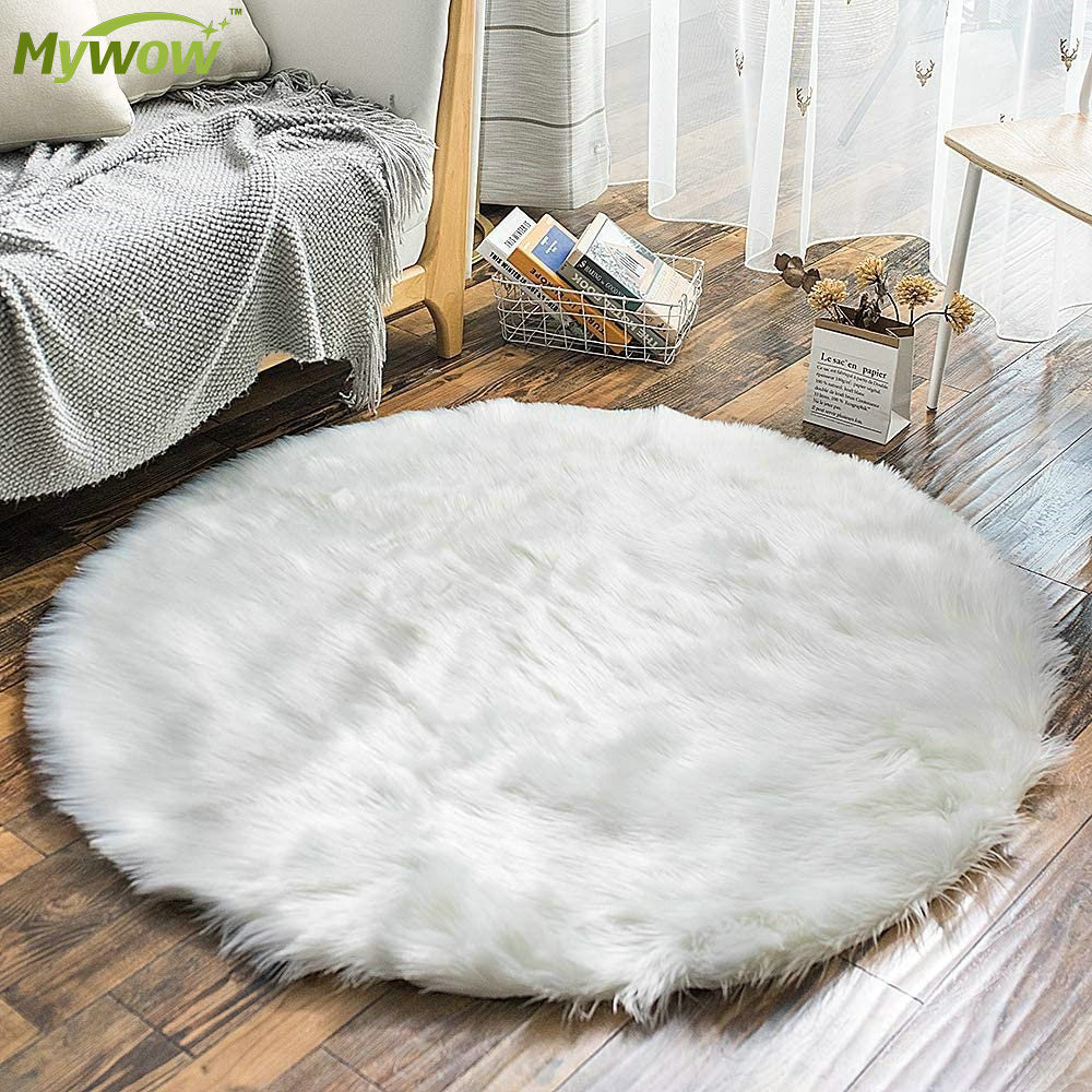Super Soft White Fluffy Rug Faux Fur