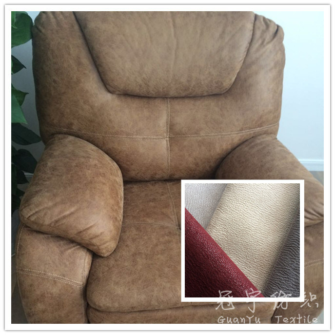 China Polyester Synthetic Leather Fabric For Sofa   China Sofa Fabric,  Polyester Leather