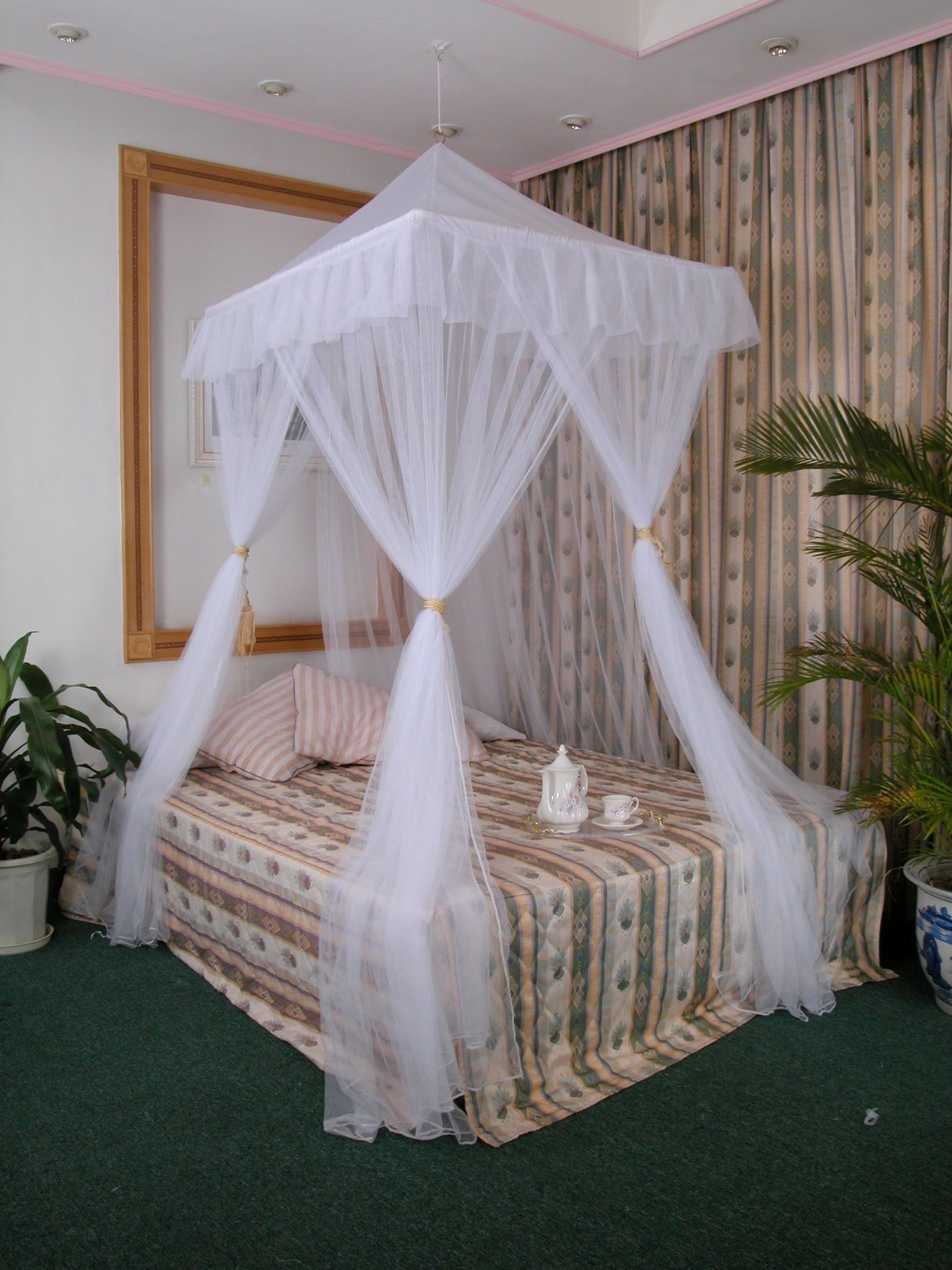 China Just Relax Four Corner Post Elegant Mosquito Net Bed Canopy Set White Full Queen King China Mosquito Net And Mosquito Bed Net Price