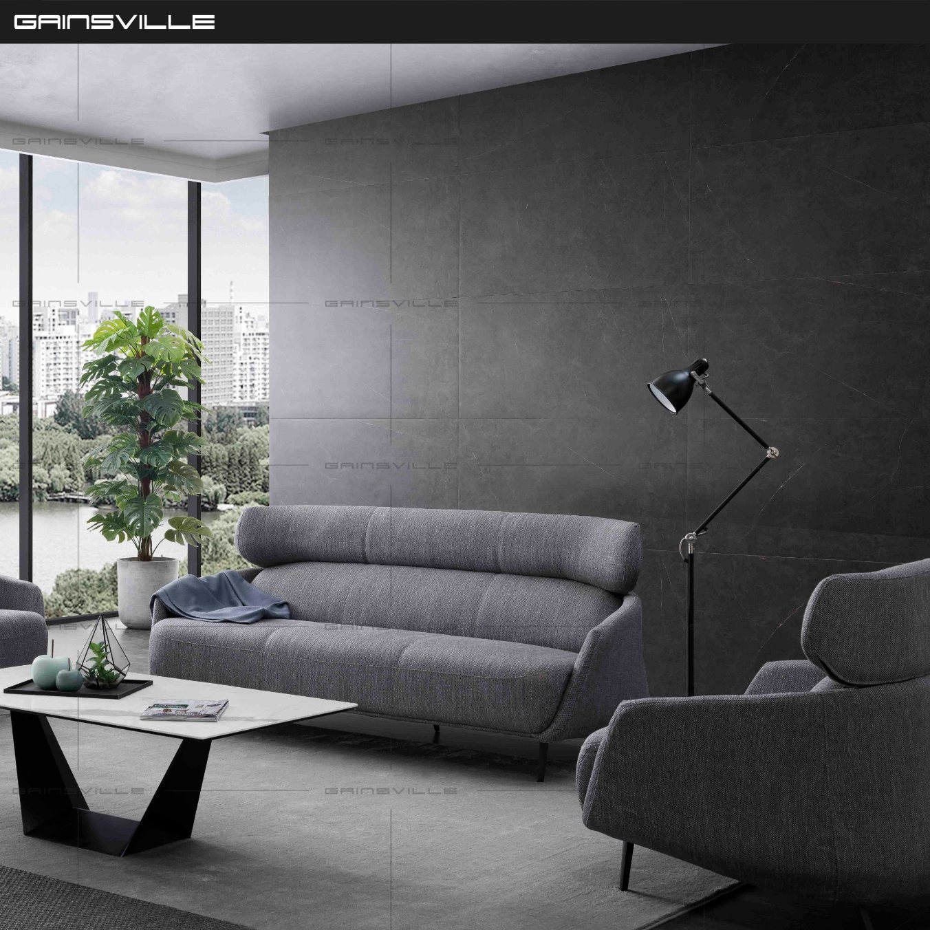 China Modern Home Living Room Furniture 20 Seat Fabric Sofa Set ...