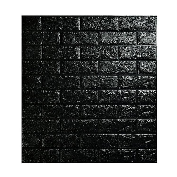 White Brick PE Foam Wallpaper Peel and Stick 3D Wall Panels for Interior Wall Decor
