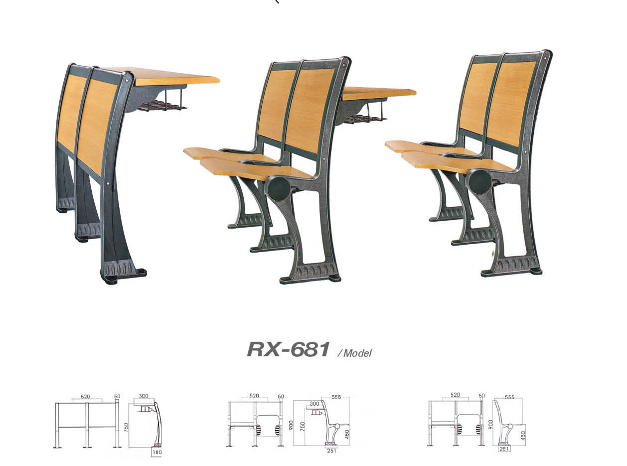 Student Table and Chair Use for Ladder Classroom (RX-681)