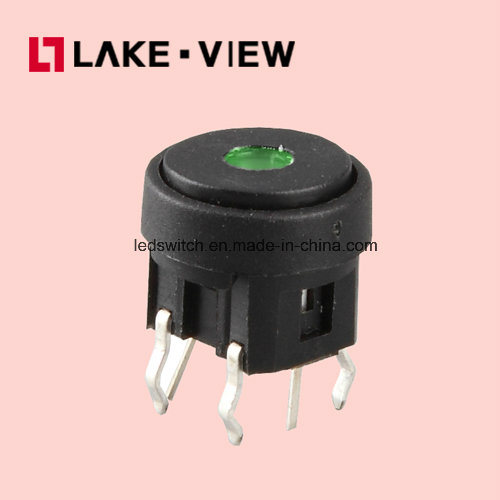 SGS Illuminated Waterproof 6*6mm LED Micro Tact Switch pictures & photos
