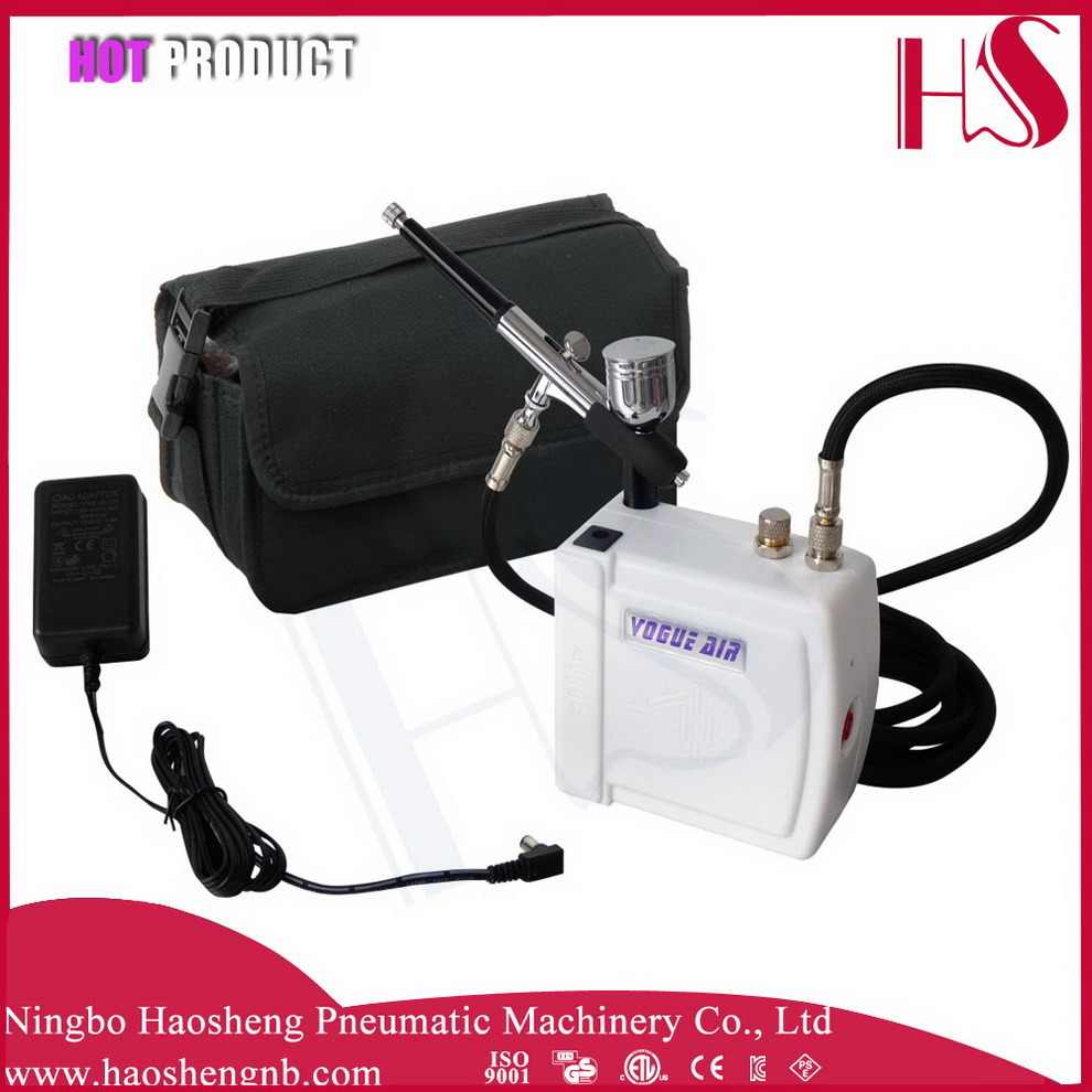 HS08AC-Skc Airbrush Compressor Kit Portable Spray Make up for Cake Decorating Nail Tattoos