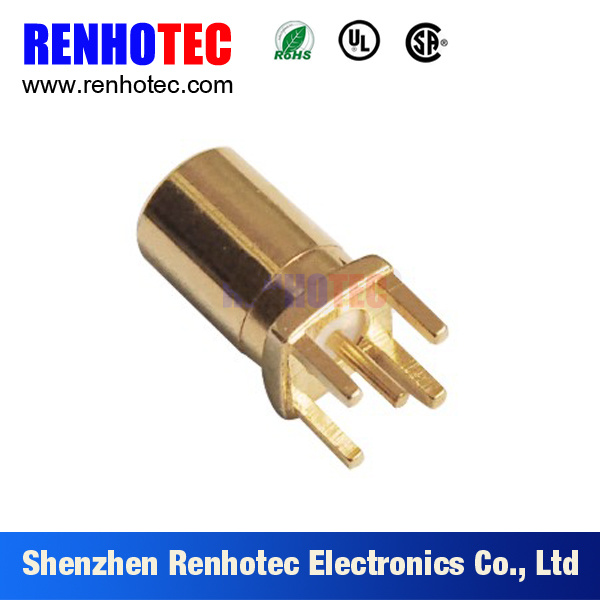 RF Crimp Cable Edge Card MCX Male Type Connector