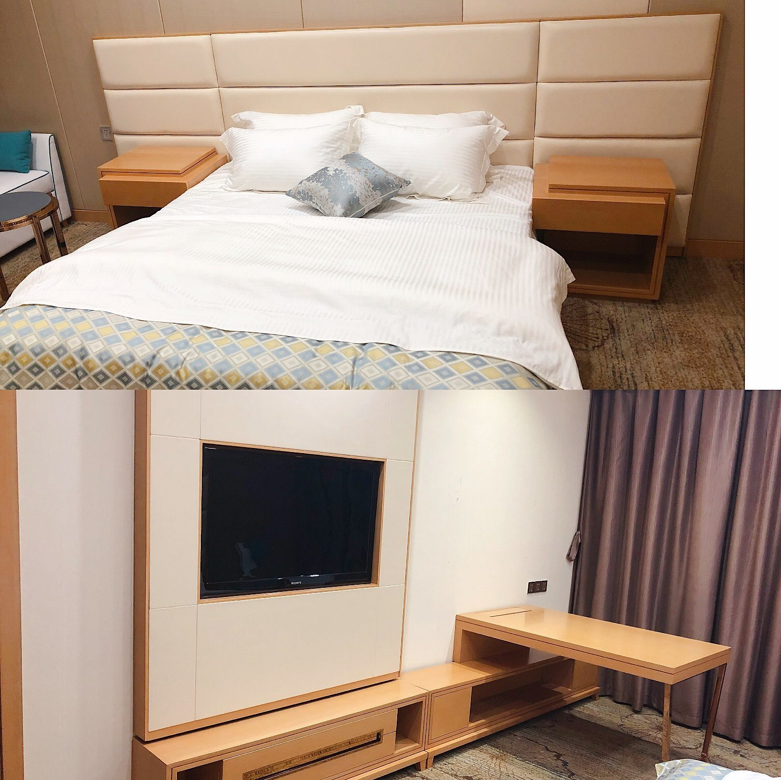 Hot Item Custom Made Contemporary Wooden King Size Hotel Bedroom Sets For Hospitality Contract Furniture Hbb 0166